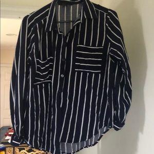 Forever 21 Navy Striped Shirt
